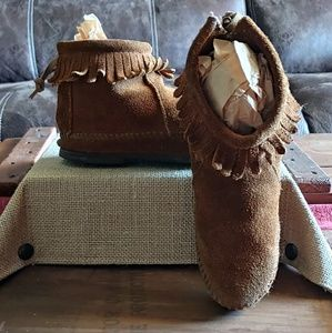 Size 13 Leather Moccasins